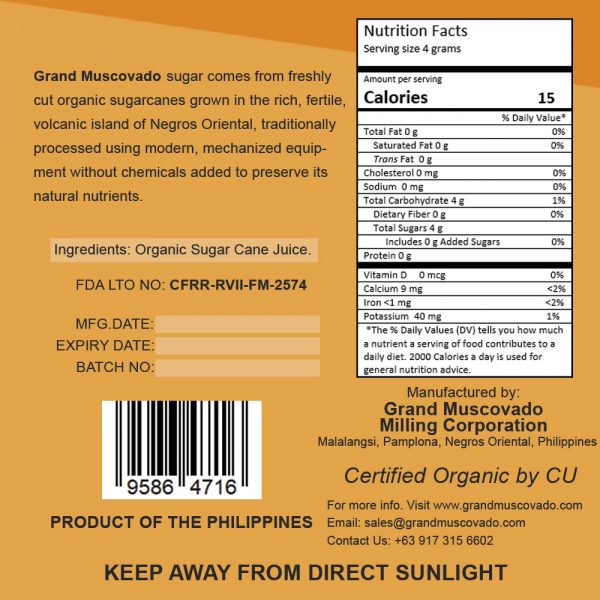 Grand Muscovado Nutritional Facts 1000g